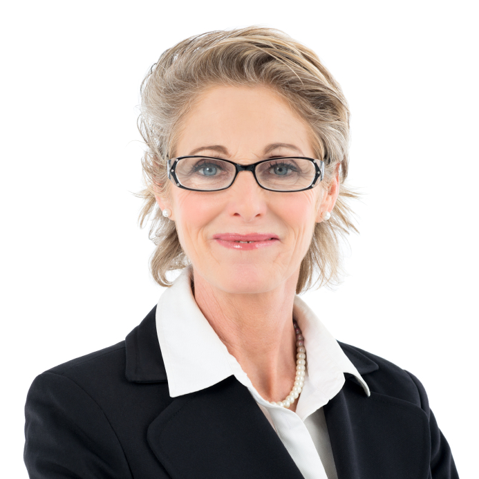 Happy Mature Woman With Glasses