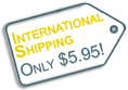 international shipping only $5.95