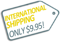 international shipping only $9.95