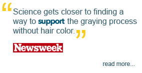 'Science gets closer to finding a way to reverse the greying process without hair color,' Newsweek